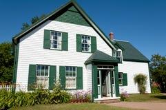 Casa verde dos frontões - príncipe Edward Island - Canadá fotografia de stock royalty free