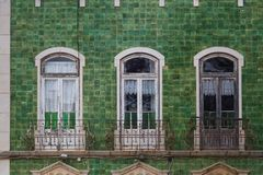 Casa verde, Lagos, Portugal foto de stock