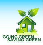 Casa verde orgânica ilustração stock