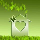 Casa verde per riciclare Immagini Stock