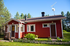 Casa vermelha Imagem de Stock Royalty Free