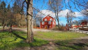 Casa vermelha fotografia de stock royalty free