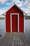 Casa vermelha do banho fotografia de stock