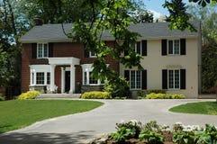 Casa vermelha formal Imagem de Stock Royalty Free