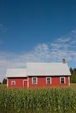 Casa vermelha velha 2 da escola Foto de Stock Royalty Free