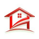 A casa vermelha verifica dentro Foto de Stock Royalty Free