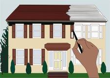 Casa verniciata illustrazione di stock