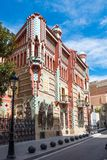 Casa Vicens is a house in Barcelona, designed by Antoni Gaudí. BARCELONA - MARCH 31, 2018: Casa Vicens is a house in Barcelona, designed by Antoni Gaudí royalty free stock images