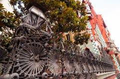 Casa Vicens jest modernistycznym budynkiem w Barcelona, Catalonia, Hiszpania Zdjęcia Royalty Free
