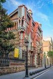 Casa Vicens w Barcelona Obraz Stock