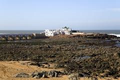 Casa vieja Branca (Casa Blanca) del pueblo pesquero del Berber Fotos de archivo libres de regalías