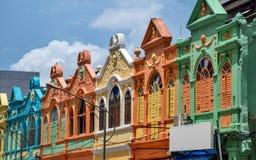 Casa vieja colorida en Hatyai fotografía de archivo