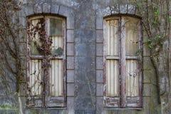 Casa vieja de Abandonded con las plantas Fotos de archivo