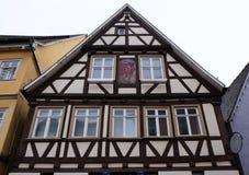 Casa vieja de entramado de madera en Aalen, Alemania Fotografía de archivo