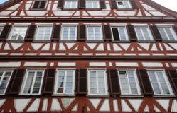 Casa vieja de entramado de madera en Tubinga, Alemania Imagen de archivo