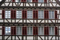 Casa vieja de entramado de madera en Tubinga, Alemania Fotografía de archivo libre de regalías