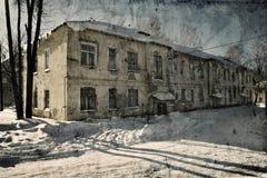 Casa vieja de Grunge imagenes de archivo