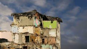 Casa vieja de la demolición Moscú, Rusia metrajes
