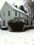 Casa vieja de la granja de Ohio en invierno Fotografía de archivo