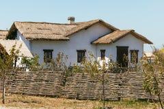 Casa vieja de los tiempos de los cosacos de Kuban Rusia Imagen de archivo libre de regalías
