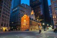 Casa vieja del estado de Boston buiding en Massachusetts imágenes de archivo libres de regalías