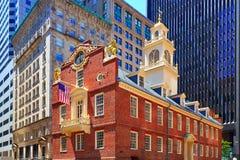 Casa vieja del estado de Boston en Massachusetts imágenes de archivo libres de regalías