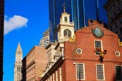 Casa vieja del estado de Boston en Massachusetts fotografía de archivo libre de regalías