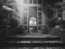 Casa vieja del jardín botánico en Urbino, Italia Fotos de archivo