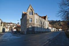 Casa vieja del ladrillo en Halden. fotografía de archivo libre de regalías