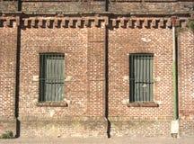 Casa vieja dos Windows fotografía de archivo libre de regalías