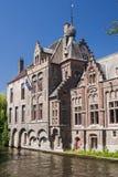Casa vieja en Brujas Foto de archivo