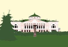 Casa vieja en el parque Imágenes de archivo libres de regalías