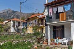 Casa vieja en el pueblo de Panagia, isla de Thassos, Grecia imagenes de archivo