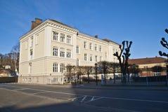 Casa vieja en Halden. (Biblioteca) imagen de archivo