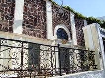 Casa vieja en Oia Santorini, Grecia Foto de archivo libre de regalías