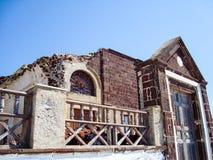 Casa vieja en Oia Santorini, Grecia Imagen de archivo libre de regalías