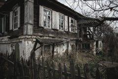 Casa vieja en Starocherkask Imágenes de archivo libres de regalías