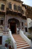 Casa vieja Mandawa Rajasthán La India Fotografía de archivo libre de regalías