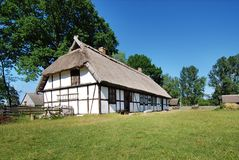 Casa vieja Polonia de los fishermans Fotografía de archivo