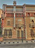Casa vincens exterior barcelona spain. This is casa vincens by gaudi barcelona spain stock photos