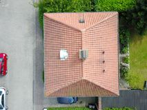 casa vista do ar imagens de stock