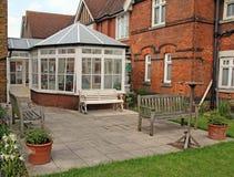Casa vitoriano e conservatório Imagens de Stock Royalty Free