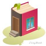 Casa viva do livro Fotografia de Stock Royalty Free