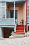 Casa viva en Tbilisi vieja, Georgia Fotografía de archivo libre de regalías