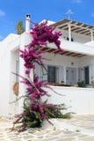 Casa Whitewashed em Grécia imagens de stock royalty free