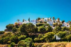 Casa Whitewashed na região de Malaga, a Andaluzia Fotos de Stock
