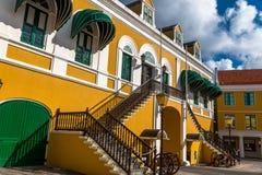 Casa Willemstad de los gobernadores Foto de archivo libre de regalías