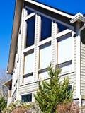 Casa Windows con las cortinas Imagen de archivo