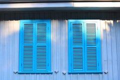 Casa Windows della campagna Fotografia Stock