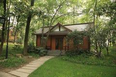 Casa y árboles Fotos de archivo libres de regalías
